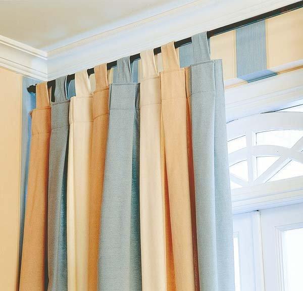 Como hacer cortinas con tiras tambi n llamadas trabillas for Como hacer cortinas corredizas