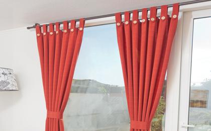 Como hacer cortinas con tiras tambi n llamadas trabillas - Como confeccionar unas cortinas ...