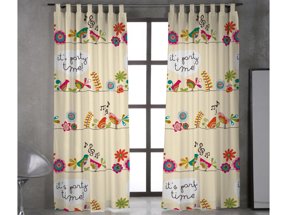 Como hacer cortinas con tiras, también llamadas trabillas.