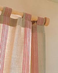 Como hacer cortinas con tiras, también llamadas presillas.