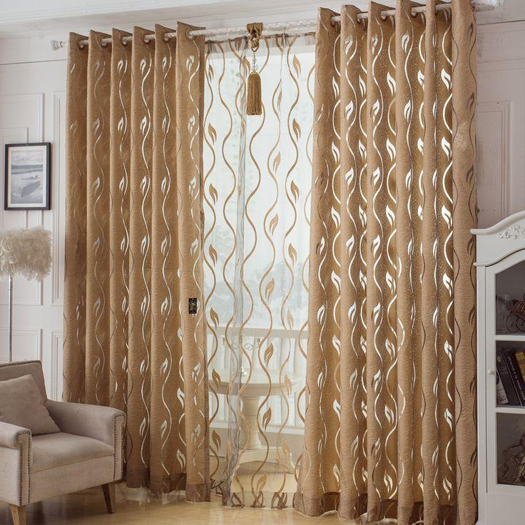 Como hacer cortinas modernas para sala con ojillos.