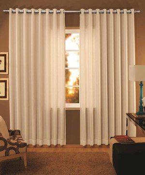Como hacer cortinas modernas para sala con ojillos for Decoracion de cortinas para comedor