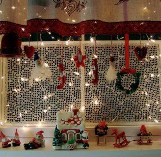 Como hacer cortinas navideñas, para tu sala facilmente.