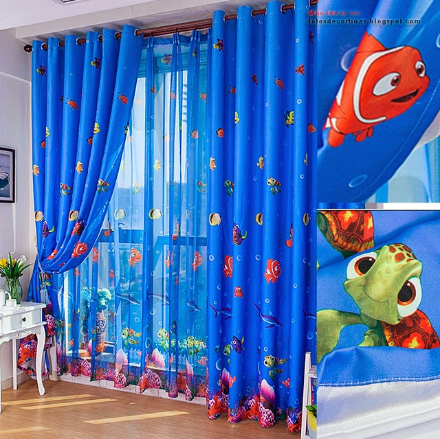 Como hacer cortinas para habitacion de ni os varones - Modelos de cortinas infantiles ...