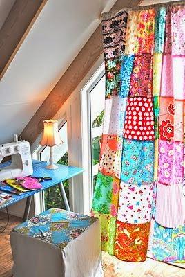 como hacer cortinas con retazos de tela, economico y practico