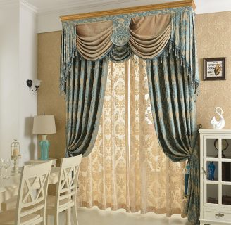 como hacer cenefas para cortinas de sala, en diferentes modelos