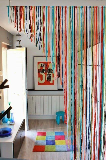 Como hacer cortinas artesanales con tiras de tela for Ideas para cortinas
