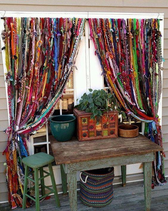 Como hacer cortinas artesanales con tiras de tela - Hacer cortinas en casa ...