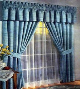 como hacer cortinas con cenefa