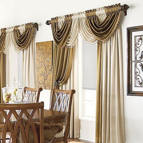 Como hacer cortinas con ondas en la parte de la cenefa.