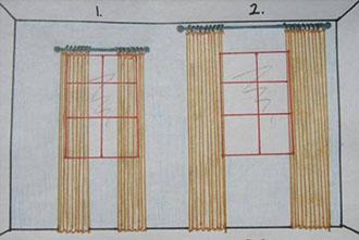 Como hacer cortinas con pliegues al estilo franc s for Como poner cortinas