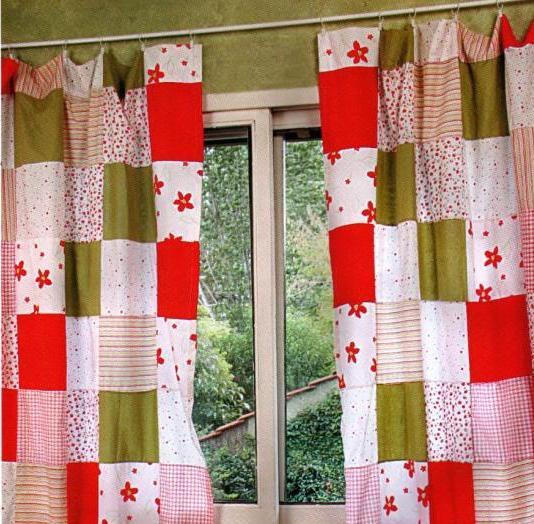 Como hacer cortinas con retazos de tela economico y practico for Cortinas de tela