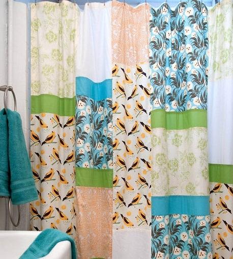 Como hacer cortinas con retazos de tela economico y practico for Puertas de material reciclado