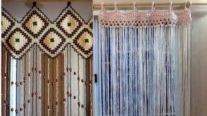 como hacer cortinas de ganchillo