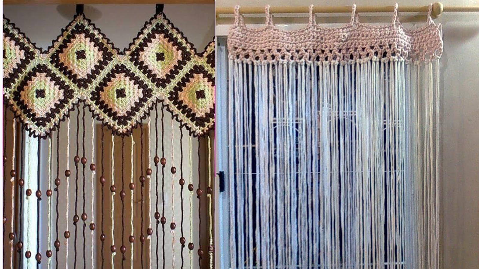 Como hacer cortinas de ganchillo en diferentes modelos - Formas de cortinas ...