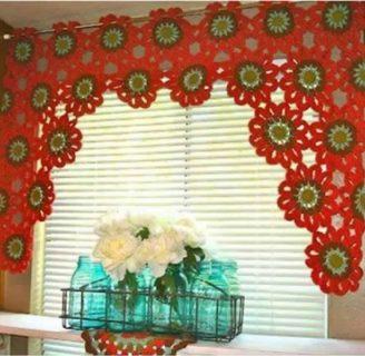Como hacer cortinas de ganchillo, con diferentes tejidos