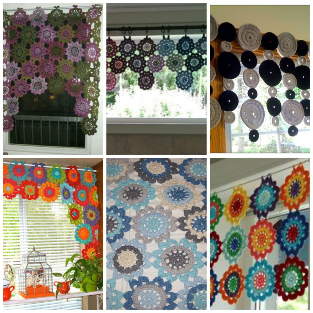 Como hacer cortinas de ganchillo en diferentes modelos for Cortinas de gancho para cocina
