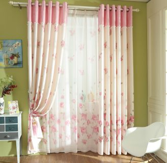 Como hacer cortinas de salón, con dos tonos de color.