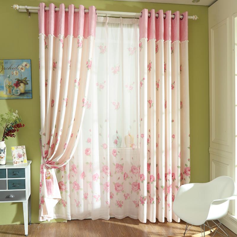 Como hacer cortinas de sal n con dos tonos de color for Como hacer cortinas
