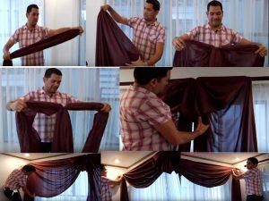 como hacer cortinas elegantes