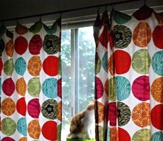 Como hacer cortinas fáciles sin coser, usando sabanas.