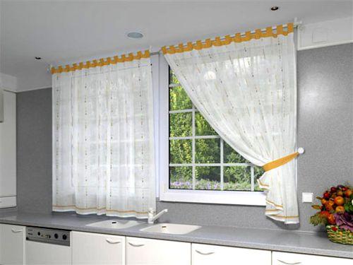 Como hacer cortinas para cocina facilmente y en sencillos for Como hacer una cortina para exterior