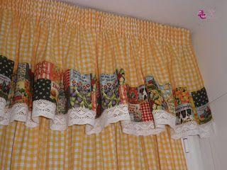 Como hacer cortinas para cocina facilmente y en sencillos for Como hacer cortinas de cocina