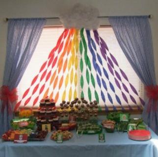 Como hacer cortinas para fiestas usando papel crepe - Como adornar una pared ...
