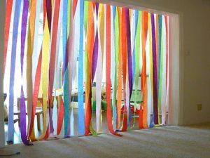 Como hacer cortinas para puertas con cintas