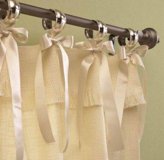 Como hacer cortinas con aros en varios diseños