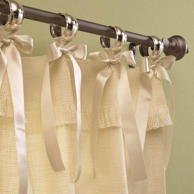 Como hacer cortinas con aros de diferentes dise os for Como hacer un bando para cortinas