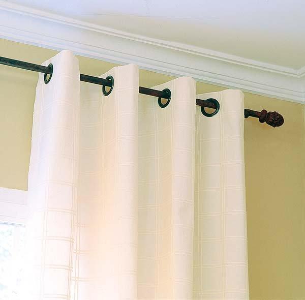 Como hacer cortinas con aros de diferentes dise os - Como hacer unas cortinas para el salon ...