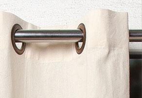 como hacer cortinas con aros