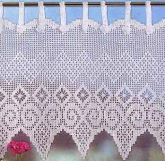 Cómo hacer cenefas de ganchillo para decorar cortinas