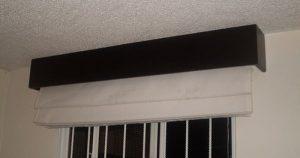 como hacer cenefas de madera para cortinas