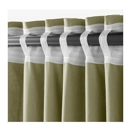 Como hacer cortinas con trabillas en modelos convencionales for Ganchos para cortinas de madera