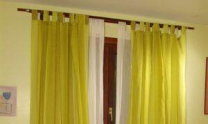 como hacer cortinas dobles