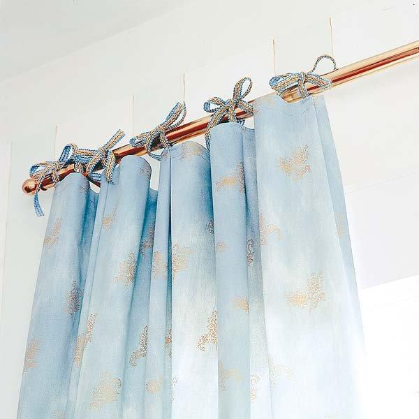 C mo hacer cortinas para closets con tiras amarrables - Hacer cortinas con trabillas ...