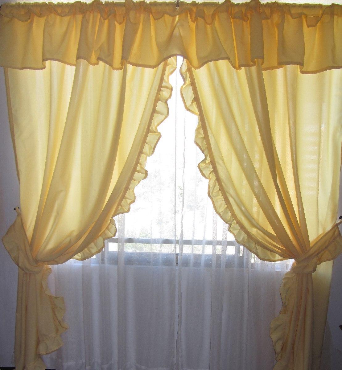 C mo hacer cortinas rom nticas con faralaos en el interior - Tela termica para cortinas ...