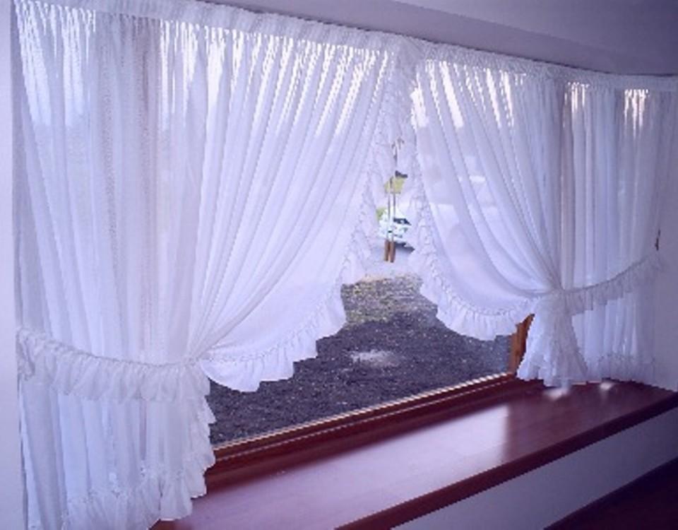C mo hacer cortinas rom nticas con faralaos en el interior Cortinas romanticas
